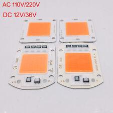 50W LED de espectro completo chip-on-board Chip DC12V 32V, integrado inteligente IC Controlador 220V 110V