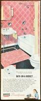 1947 Briggs Beautyware Bathroom Fixtures Print Ad Pink Decorated Bathroom
