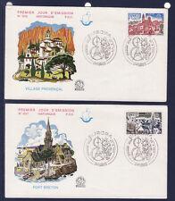 enveloppe 1er jour   paire Europa  Paris     1977
