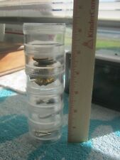 """6 Storage Stackable Acrylic Clear Containers For Beads, Crafts, Etc. 2"""" Round"""