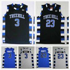One Tree Hill Mens #23 Lucas Scott #3 Nathan Scott Basketball Jersey Stitched