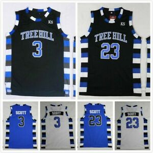 One Tree Hill 23# Lucas Scott 3# Nathan Scott Mens Basketball Jersey Stitched