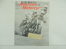 Vintage Oct 1969 AMERICAN MOTORCYCLE Magazine Indian BMW Sportster Harley L3671