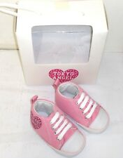 Wholesale Joblot x28 Pairs Tokyo Angel Baby Toddler Hi Top Soft Crib Shoes Pink
