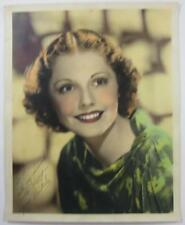 """MOVIE STAR LYNNE BERKELEY 1930'S OR 1940'S 8"""" X 10  """"COLOR STUDIO PHOTO SIGNED"""