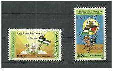 1992- Libya-Stone revolution in Palestine- Complete set 2v MNH**