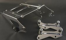 Chrome Tour Pak luggage rack + 4 pt docking kit Harley Davidson Touring 2014 UP
