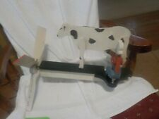 Vintage Wooden Whirley Gig Man Milky Cow