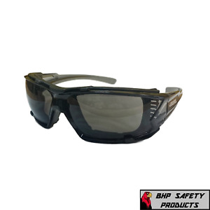 Elvex Go Specs IV Safety Glasses,Grey Anti Fog Lens,Foam Line, Dark Grey Temples