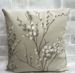 Laura Ashley Pussy Willow Natural Floral Cushion Cover 14 16 17 18 19 20 22 Inch