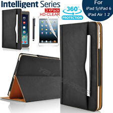 Leather Rotating Smart Case Wallet Stand Cover for iPad Air 1 2 + Films & Stylus