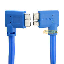 High Speed 30cm USB 3.0 Micro B Male to Micro Male Right Angled Plug Cable Cord