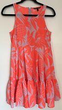 Victoria's Secret Women's Summer Sleeveless Dress Orange Pineapple Print Size 2