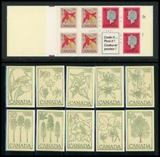 Canada Unitrade #Bk78 Mnh Booklets Columbine Flower Queen - Orchid Covers $