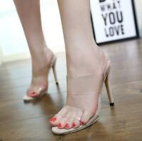 Sexy Women Peep Toes High Heel Transparent Chic Clear Breathable Stiletto Sandal