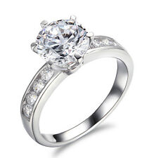 Engagement Ring 2.50 Ct D/VVS1 Round Brilliant Cut Solitaire Halo 14k White Gold