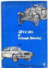50 Years Of Triumph Motoring 1973 UK Market Press Pack