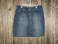 LOGG Women's Blue Jean Straight Skirt Size 16