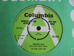 The Dave Clark Five - Nineteen Days 1966 UK 45 COLUMBIA DEMO