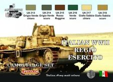 LIFECOLOR PAINT Italian WWII Army Camouflage Acrylic Set (6 22ml Bottles)