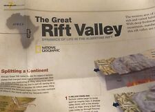 THE GREAT RIFT VALLEY, AFRICA'S LAKES MAP National Geographic November 2011