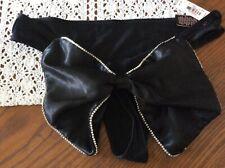 Victoria's Secret Sexy Panties underwear black rhinestones Bow Valentines NWT M