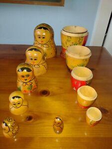 Russian Nesting Hand Paint Wooden Dolls Set