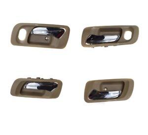 Set 4 Left Right Interior Inside Door Beige handle for Honda Accord 6 Odyssey 2