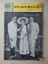 January 29th, 1962 - Sam S. Shubert Playbill - The Gay Life - Barbara Cook