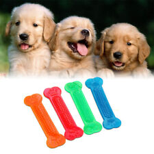 Pet Dog Cat Flat Bone Games Chew Toy Bite Resistant Clean Teeth Stick Silicone