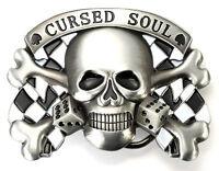CURSED SOUL Skull Belt Buckles for your Belts