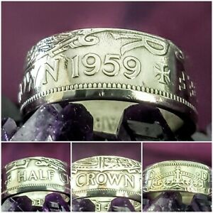 Coin Ring 1959 Size Y  Halfcrown Coin Ring