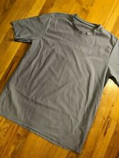 Track & Field Brazil Gray/ Silver Running Mesh Workout Shirt - Men's Large