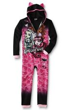 MONSTER High Fleece HOODED Pajamas NeW Girls 14/16 Warm Winter Zip-Up Hoodie Pjs