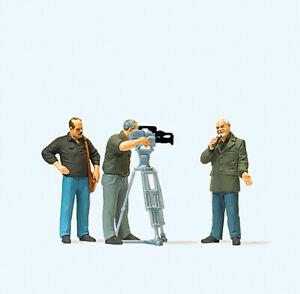 HO Preiser 28139 Three Figure T.V. Crew with Cameran HO 1:87