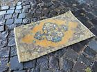 Vintage doormats, Turkish small rug, Hand-knotted wool rug,Carpet | 1,5 x 2,5 ft