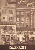 Vintage CAVANAGH'S Restaurant Menu New York 1968