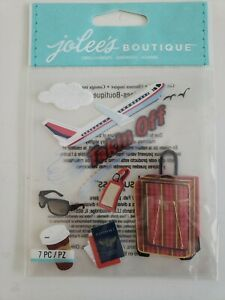 Jolees Boutique Taking Off scrapbooking stickers travel airplane