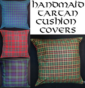 Scottish Clan Tartan Scatter Cushion Cover Case Holly Berry Scot Decoration