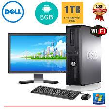 Dell Desktop PC Computer Windows 10 Core 2 Duo 8GB RAM 1TB HD 19