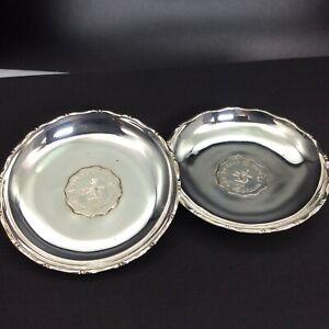 2 Stück Münzschale 925 Sterlingsilber 2 Hong Kong Dollar 1975 Ø 8,6 cm #4699