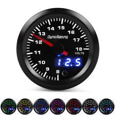 """2"""" 52mm Digital&Pointer 7 Color LED Car Volt Meter Voltmeter Voltage Gauge 8-18V"""