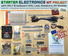 Starter Electronic Kit Project [Breadboard, Wires, LEDs, Resistors, Switches...]