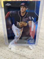 TREA TURNER -- 2020 TOPPS CHROME SAPPHIRE BASE CARD Washington Nationals SP