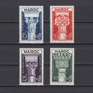 FRENCH MOROCCO 1952, Sc# 280-283, Art, Architecture, MNH