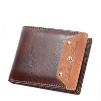 Men Genuine Leather Billfold Wallet RFID Blocking ID Card Holder Coin Purse Clip