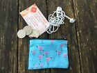 10 x 7 cm Girls / Ladies Australian Handmade Flamingos Earbud,Coin purse