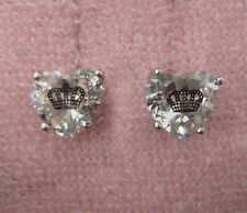 Auth Juicy Couture Princess Heart Crown Stud Earrings Studs $42