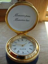 Alastor Enamels   Made In England Working  Clock Floral Tinket Box Great Shape