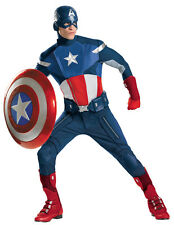 CAPTAIN AMERICA THEATRICAL COSTUME & SHIELD AVENGERS THE WINTER SOLDIER 50-52!